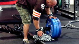 chain on barbell