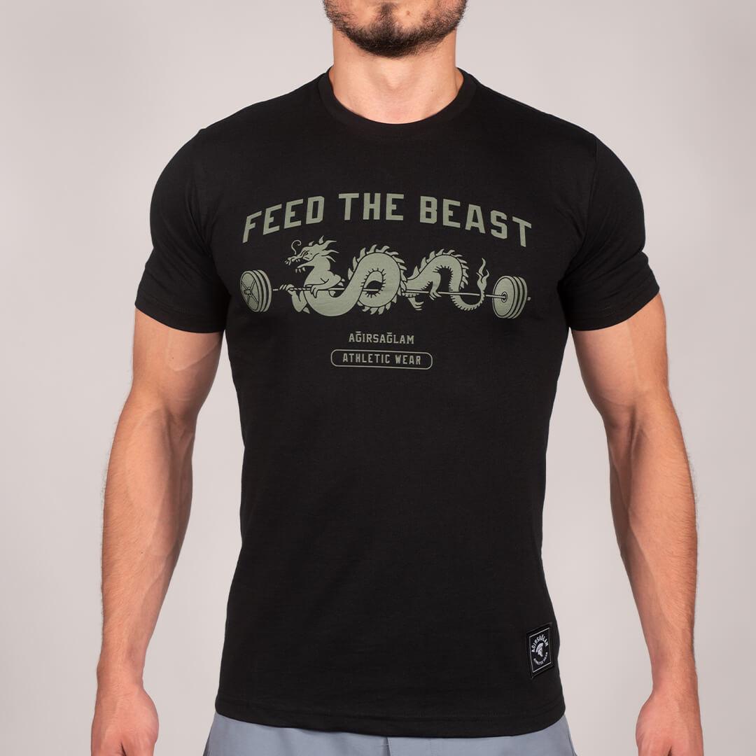 Ağırsağlam Feed The Beast Siyah Tişört Ön
